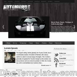 AutoMobile blogger template. blogger template 3 column footer. automotive template blogspot free