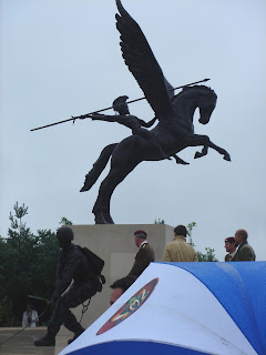 Pegasus at NMA - Prince of Wales with Sculptors Charlie Langton and Mark Jackson