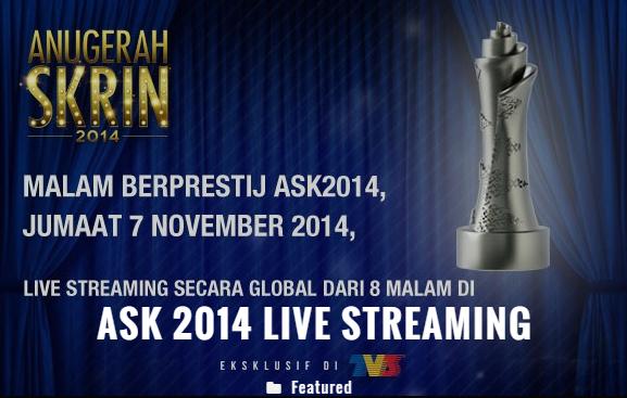 Senarai Pemenang Anugerah Skrin 2014, ASK2014,
