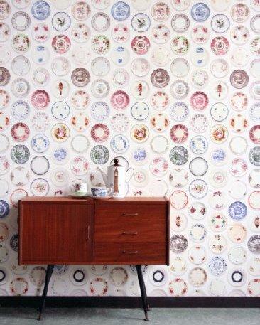 vintage wallpaper porcelain pattern
