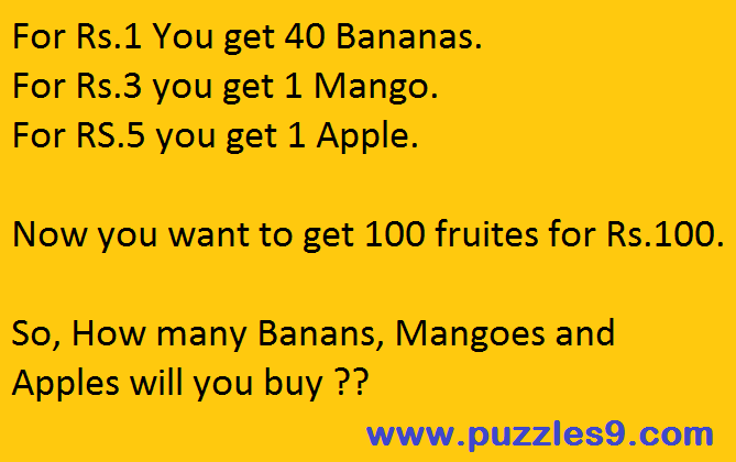 Solve simple and Logic puzzle with solution in puzzles9