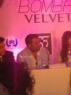 Ranbir Kapoor, Anushka & Anurag at the Bombay Velvet conference in Sri Lanka