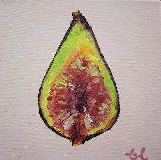 Figos, pintura de Britta Loucas