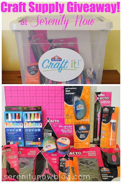Elmer's Craft It! Supply Kit Giveaway at Serenity Now
