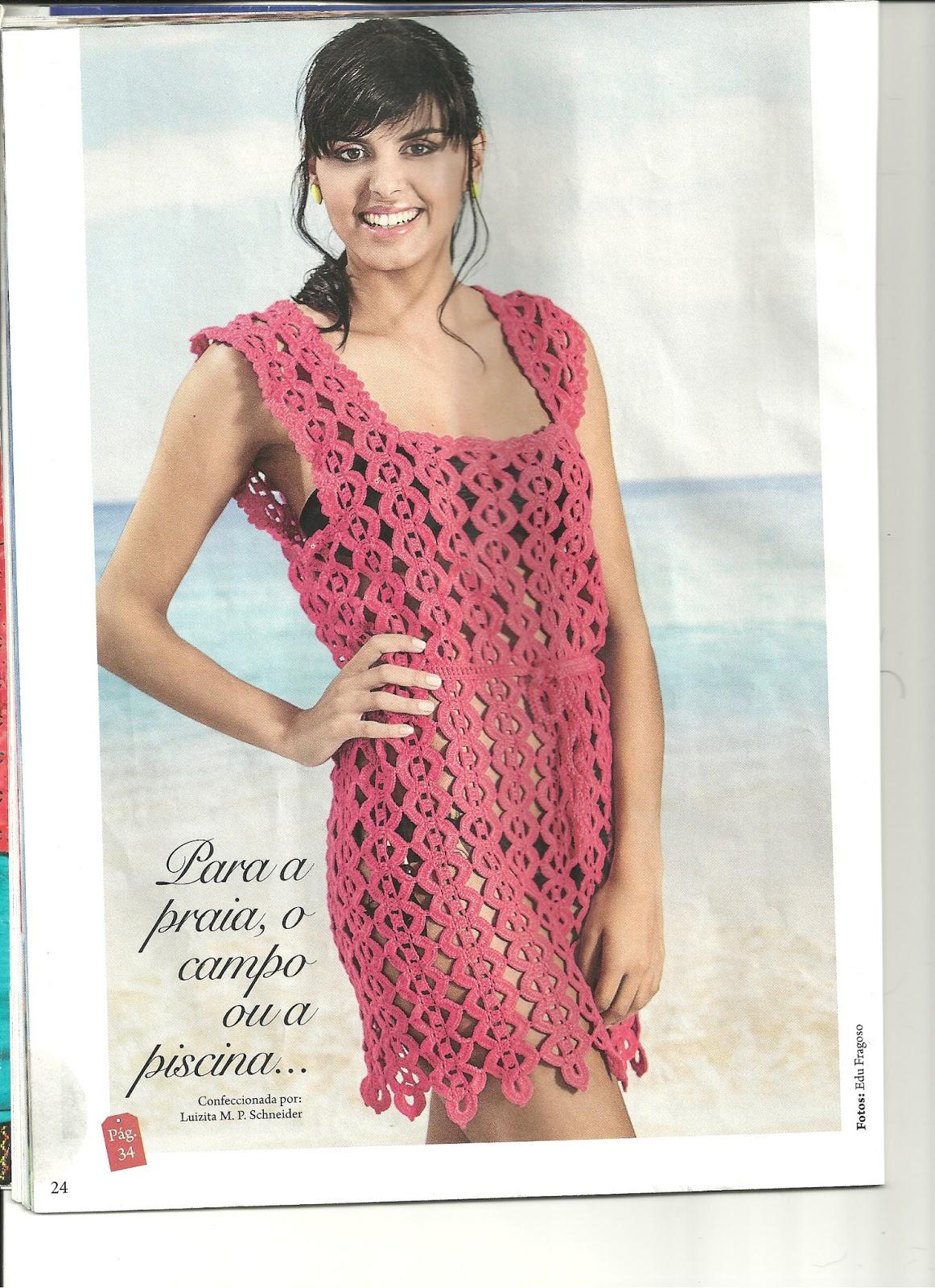 пляжное платье филейное вязание крючком схемы