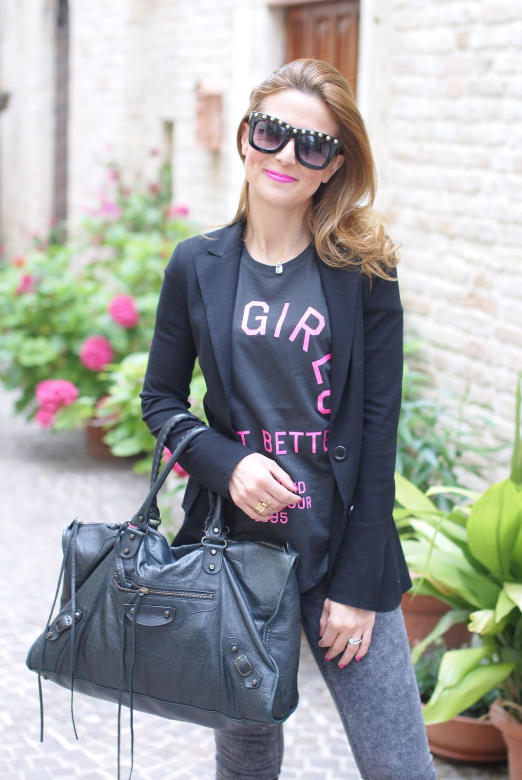 pink and black rock style on Fashion and Cookies fashion blog
