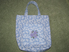 Blue Lined totebag