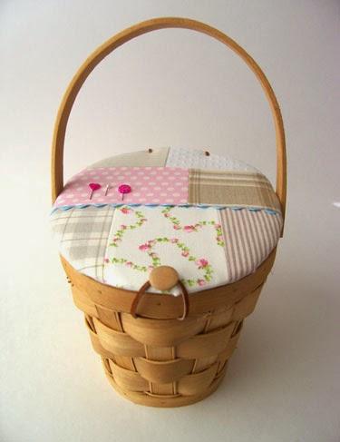 Eu amo artesanato tampa para cesta de costura - Cesta de costura ...