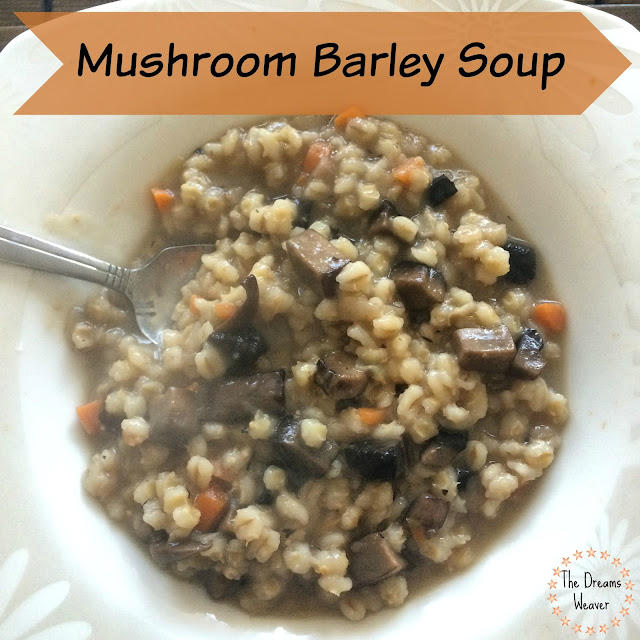 The Dreams Weaver~ Mushroom Barley Soup