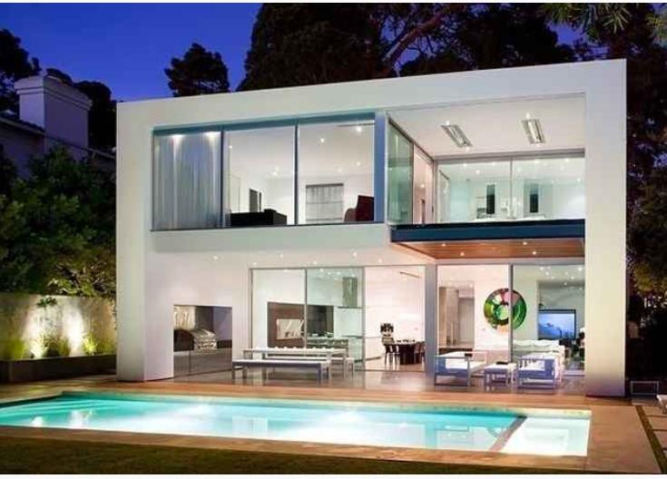 desain rumah minimalis 2 lantai dengan ada kolam renang