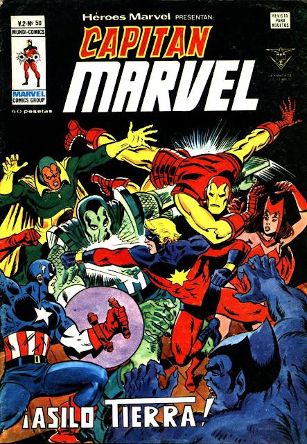 Portada Héroes Marvel Volumen 2 Nº 50 ediciones Vértice