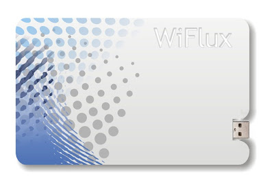 WiFlux saiz kad kredit dapat cas telefon bimbit tanpa wayar
