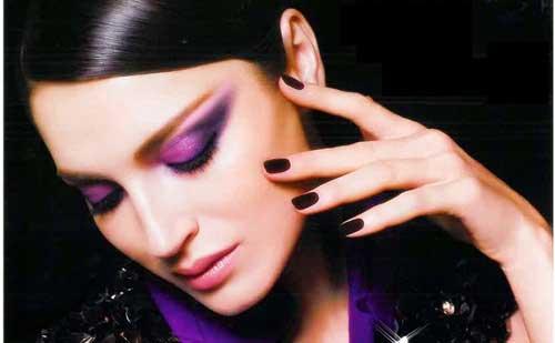 maquillaje nochevieja tonos morados