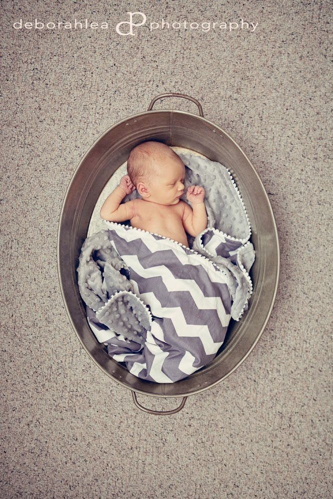 chevron blanket newborn photo