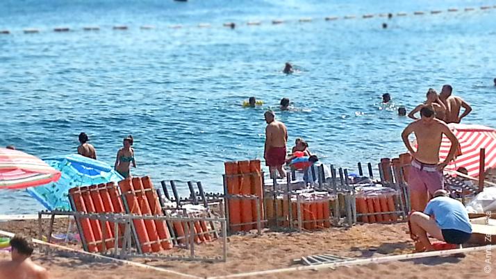 Фейерверки на пляже Петроваца