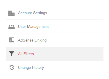 All Filters option in official analytics account