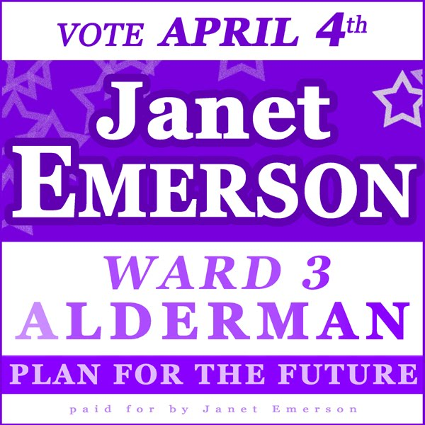 Janet Emerson for Alderman