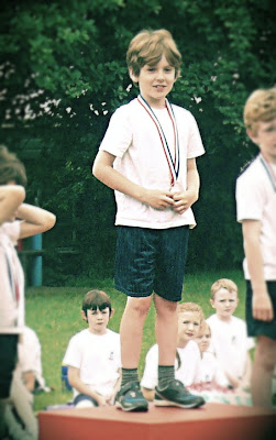 Gold medal at sports day