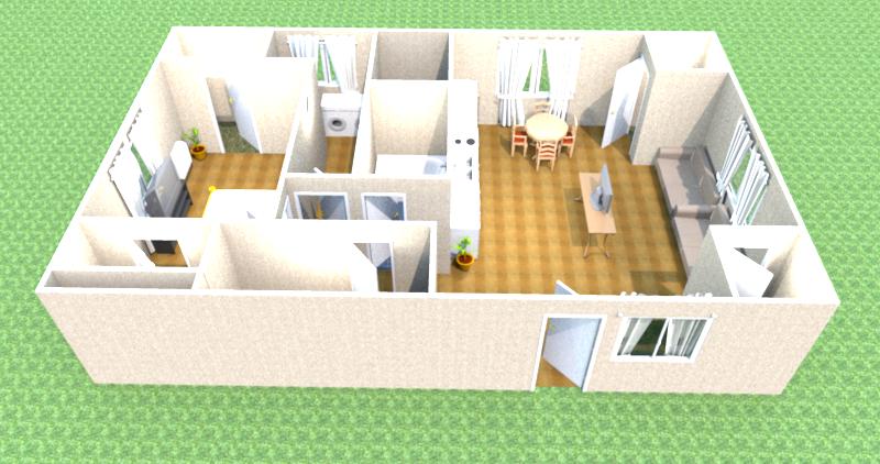 Mr sniffles blogger sweet home 3d floor plan for House plan 3d model