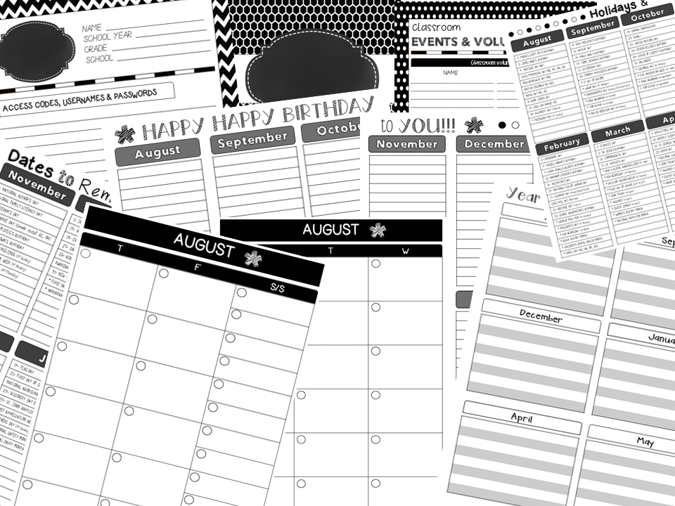 http://www.teacherspayteachers.com/Product/Teacher-Planner-Black-White-1429969