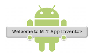 Welcome to MIT App Inventor [image - android logo holding a sign]
