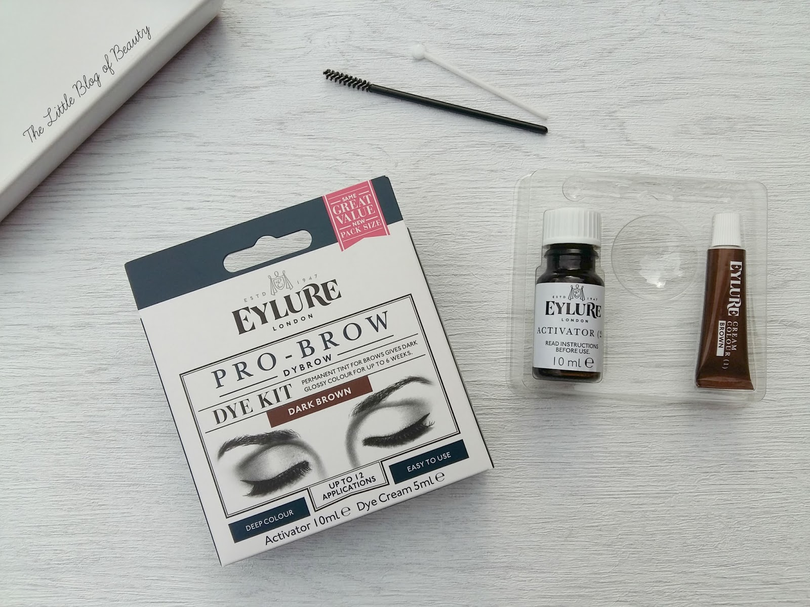 Eylure Pro Brow Dybrow Dye Kit Dark Brown The Little Blog Of Beauty
