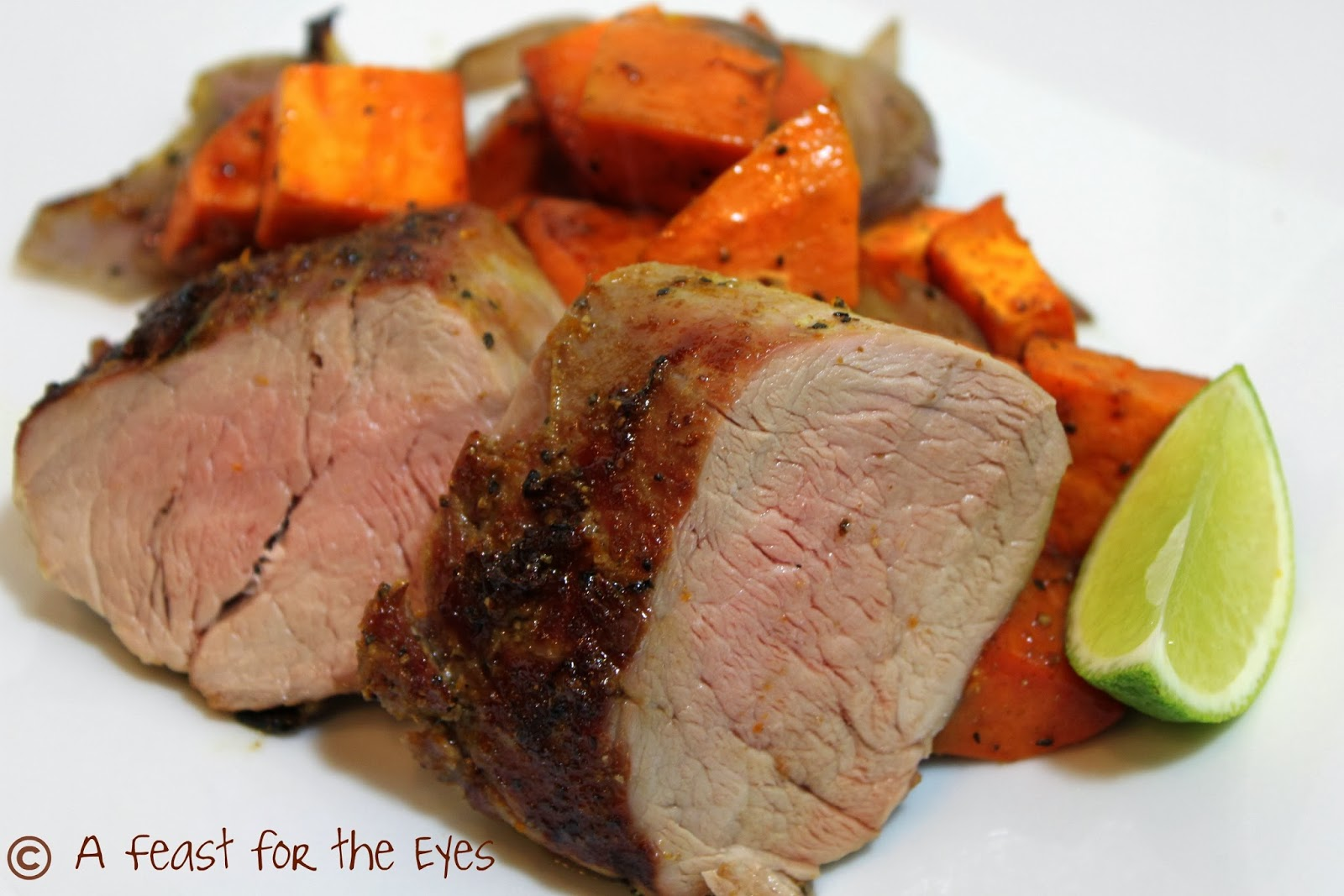 ... Cuban Roasted Pork Tenderloin with Roasted Sweet Potatoes and Onion