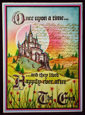 Once Upon A Time - Fairytale Castle stamp - visible image stamps