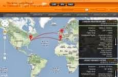 Cálculo de distancia y tiempo de vuelo entre dos ciudades del mundo: The Great Circle Mapper