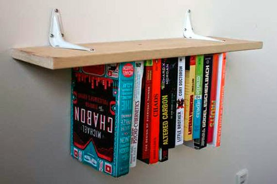 cool and amazing bookshelf and shelves magic design, illusions shelves