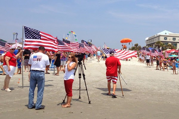 4th of July on the beach in North Myrtle Beach
