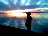 Luz en lago Villarrica