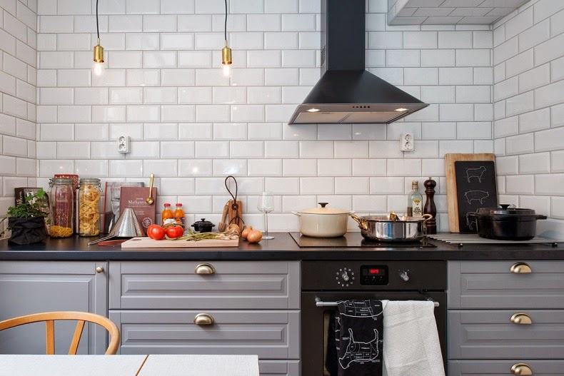 muebles de cocina color gris