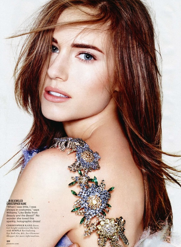 'This Girl Shines' Allison Williams for Glamour US March 2014