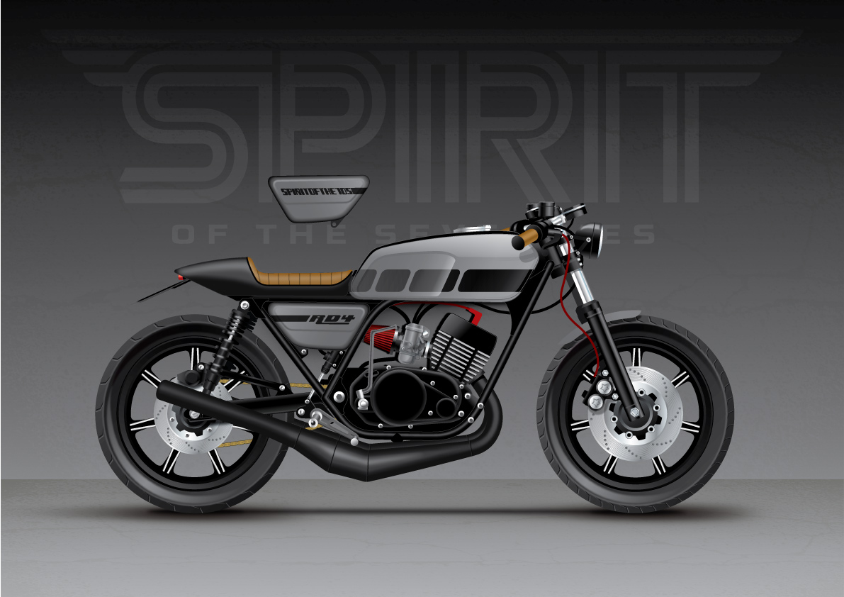 European motorcycle diaries spirit of the seventies spirit of the seventies yamaha rd400 grey falaconquin