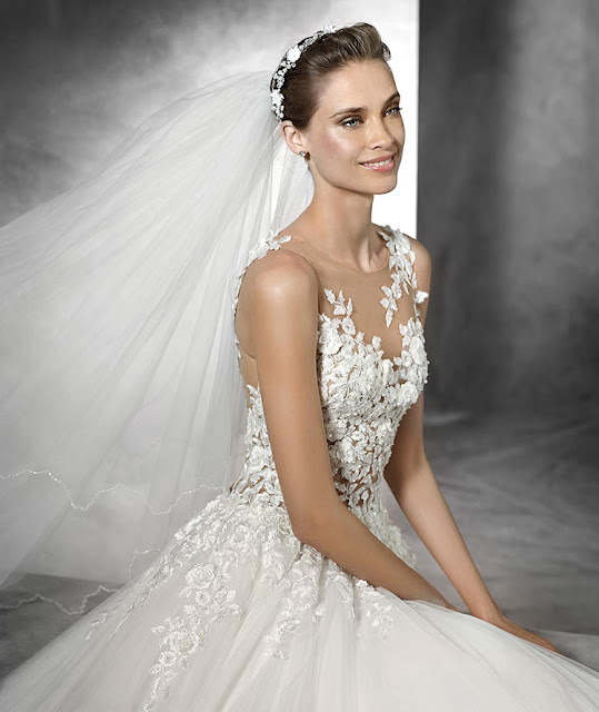 2016 luxury princess wedding dress pronovias 2016