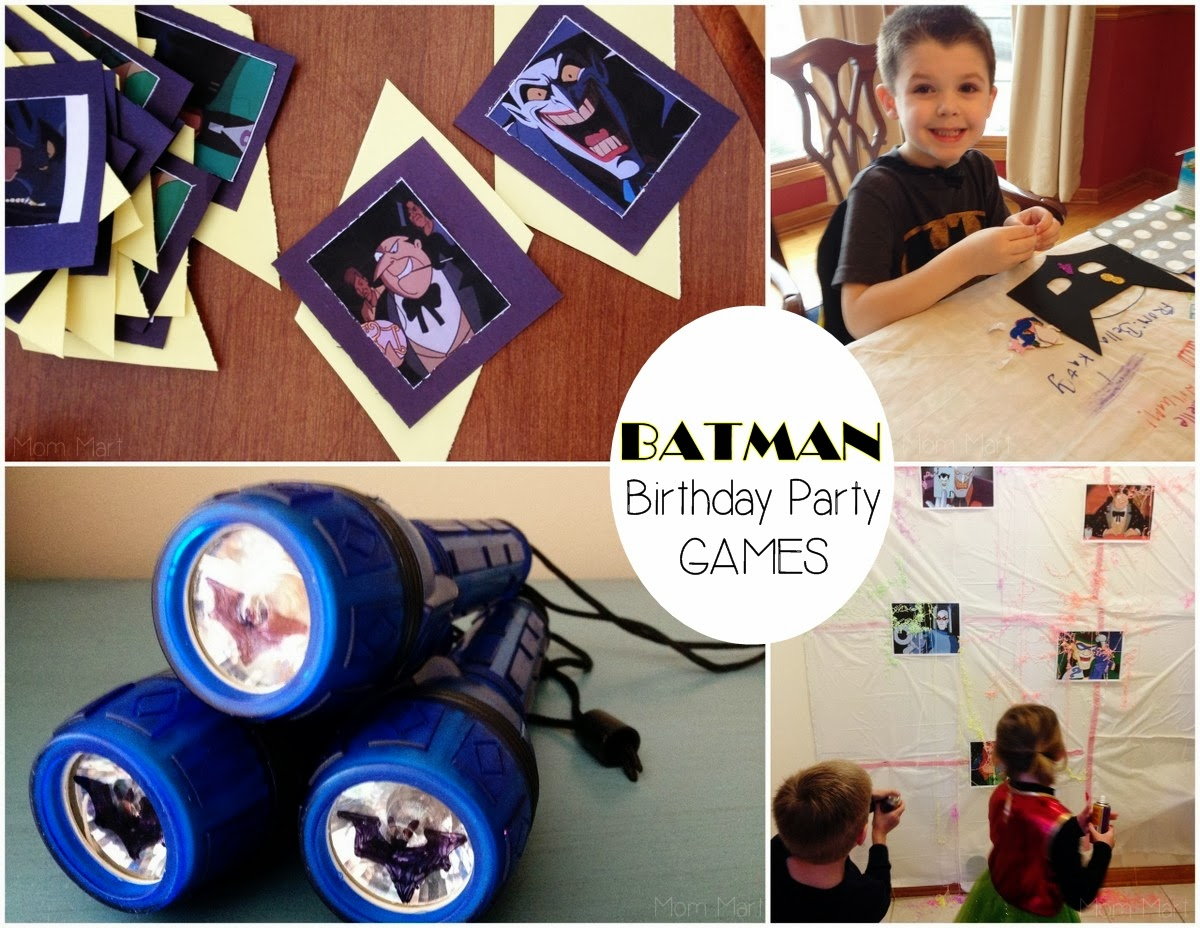 Batman Themed Birthday Party #FreePrintables #Batman #BatmanParty #BatmanPartyGames