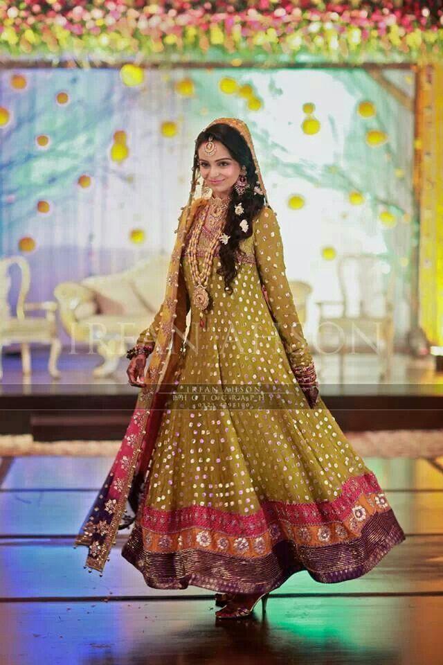 Mehndi Dresses 2016 : Mehndi dresses pakistani