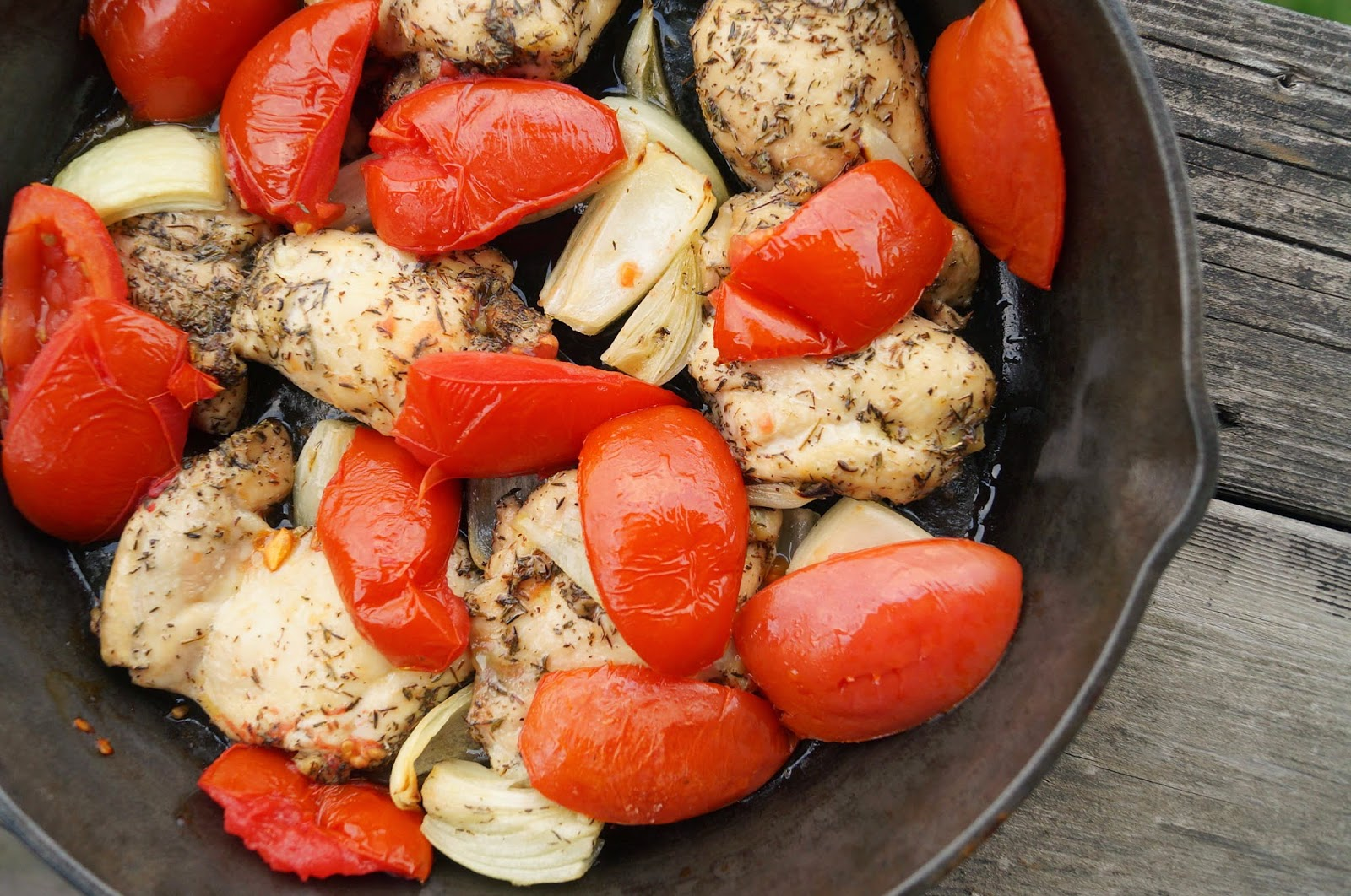 Herb-Roasted Chicken and Vegetables Printable Recipe