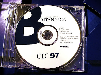 a 1997 digital edition of the Encyclopaedia Britannica on one CD ROM, produced by Netscape the inventor of the World Wide Web standard