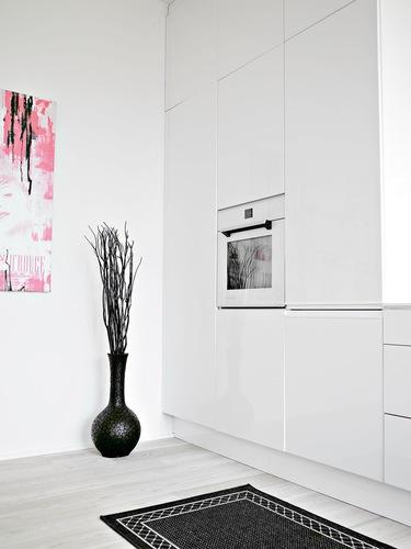 cocina diseño blanco y negro