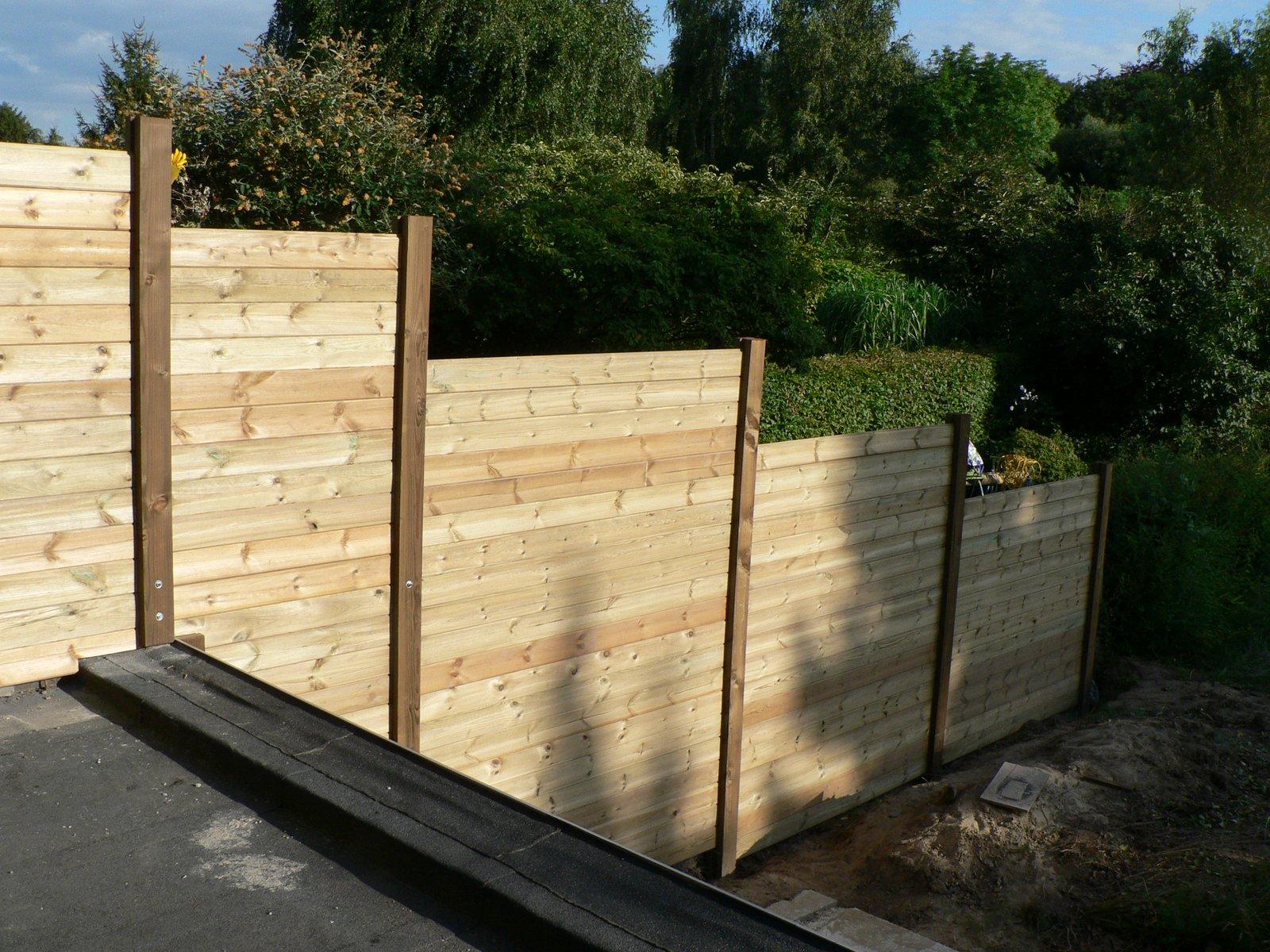 Ons huisje houten tuinafscheiding - Bedek een houten terras ...