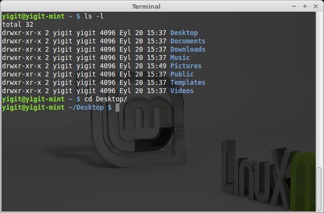 Linux cd komutu