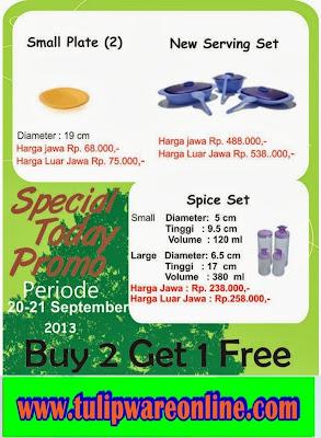 Promo Tulipware Tanggal 20-21 Sept 2013