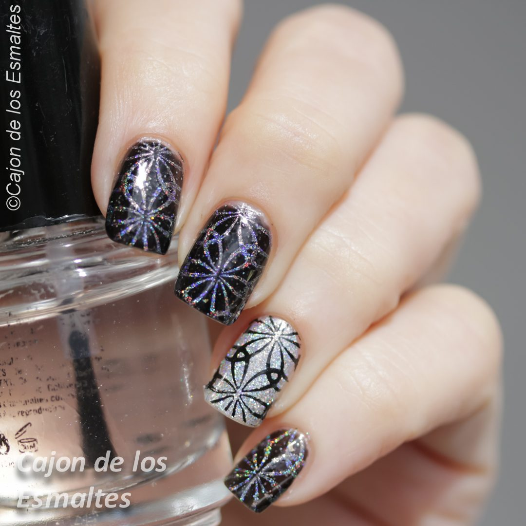 U as decoradas estampado con placa bornpretty bp l004 - Unas decoradas con esmalte ...