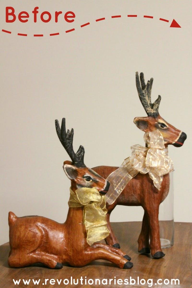 DIY Christmas Decor: Glitter Reindeer!