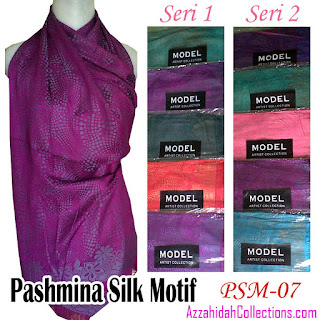 Pashmina Silk Model Artist - www.azzahidahcollections.com