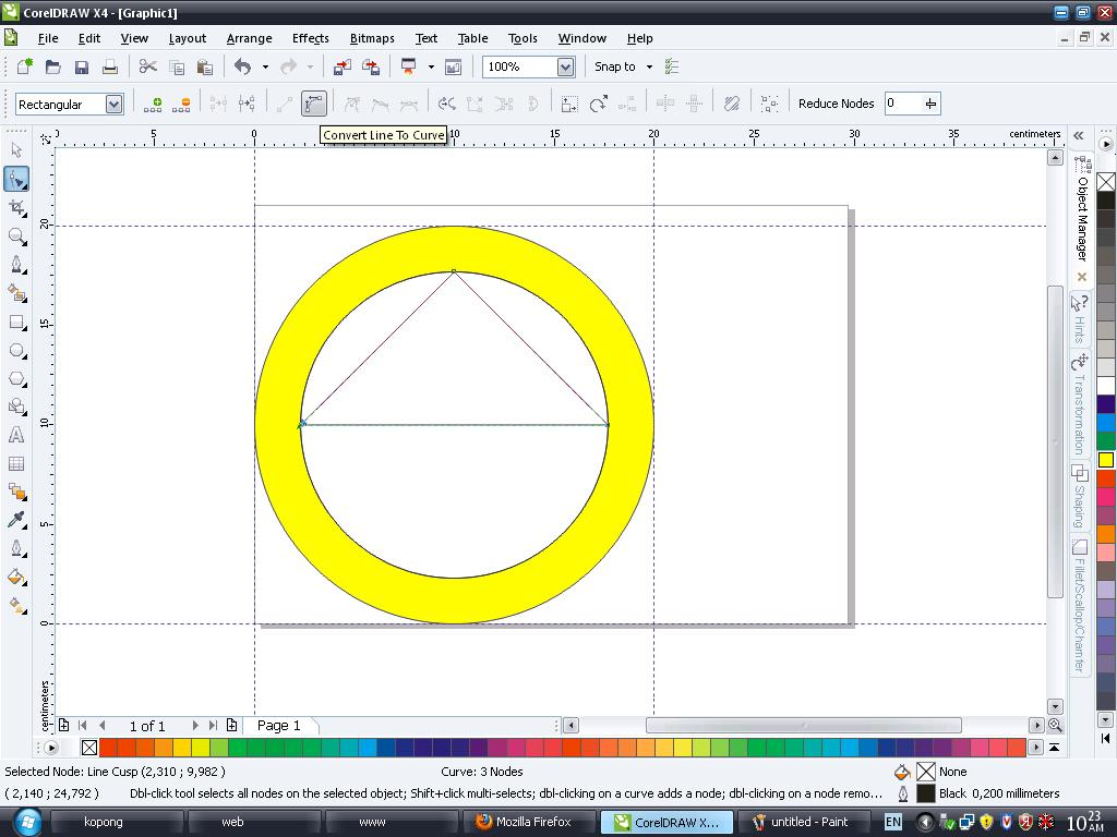 Membuat Logo Smk Islam Pb.Soedirman di Corel Draw - Part 1