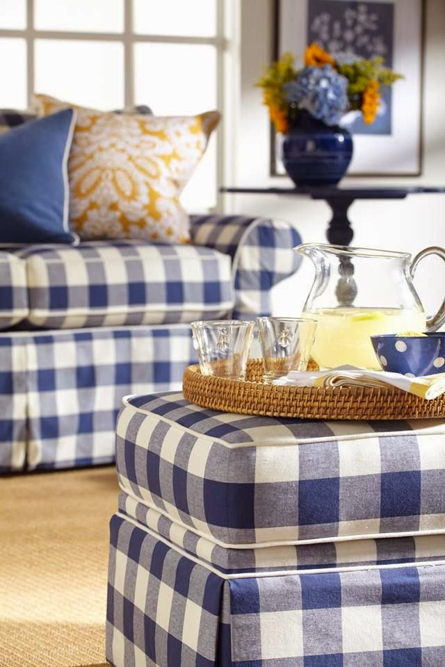 Eye For Design Decorate With Blue And White Buffalo Plaid