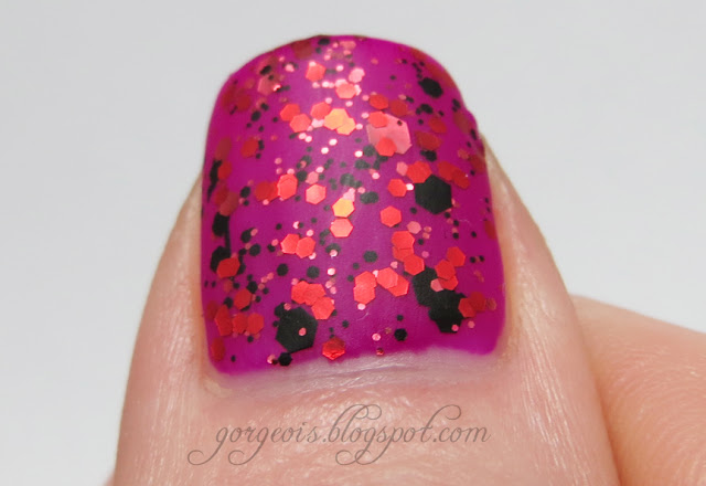 Matte glitter manicure with Urban Outfitters Binge, China Glaze Scattered and Tattered, Zoya Sooki, Venique Heels of Dazzle